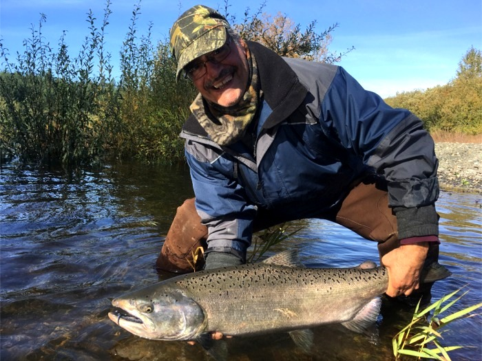 Coho salmon fishermen caught their limits on the Chehalis river